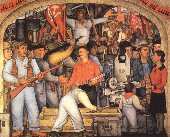 Mexican muralist movement for Diego rivera s mural