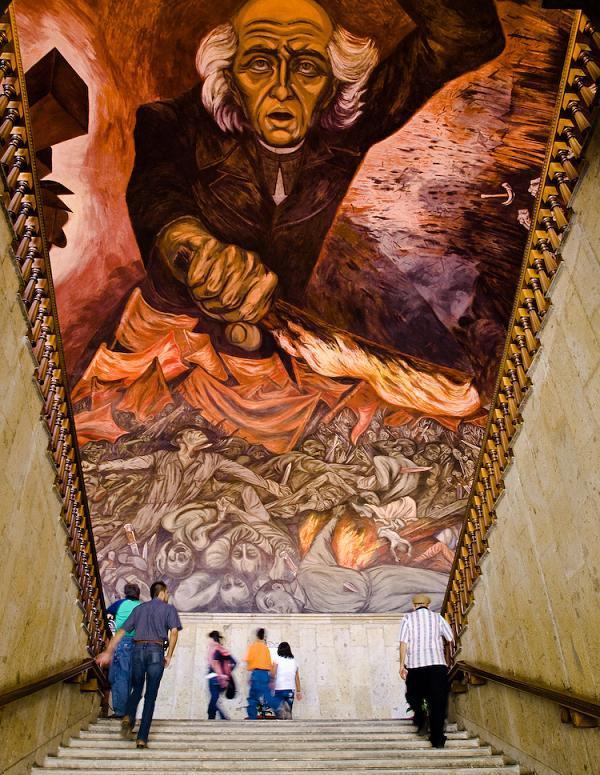Movimiento muralista mexicano for El hombre de fuego mural de jose clemente orozco