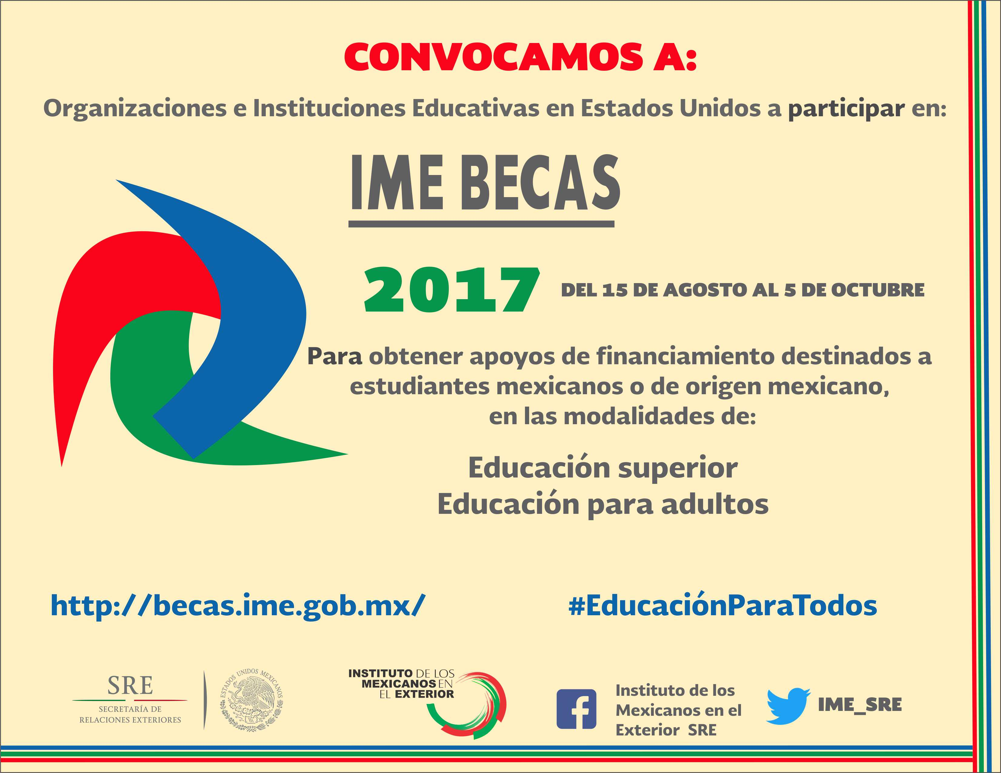 Convocatoria ime becas 2017 for Mexterior convocatorias