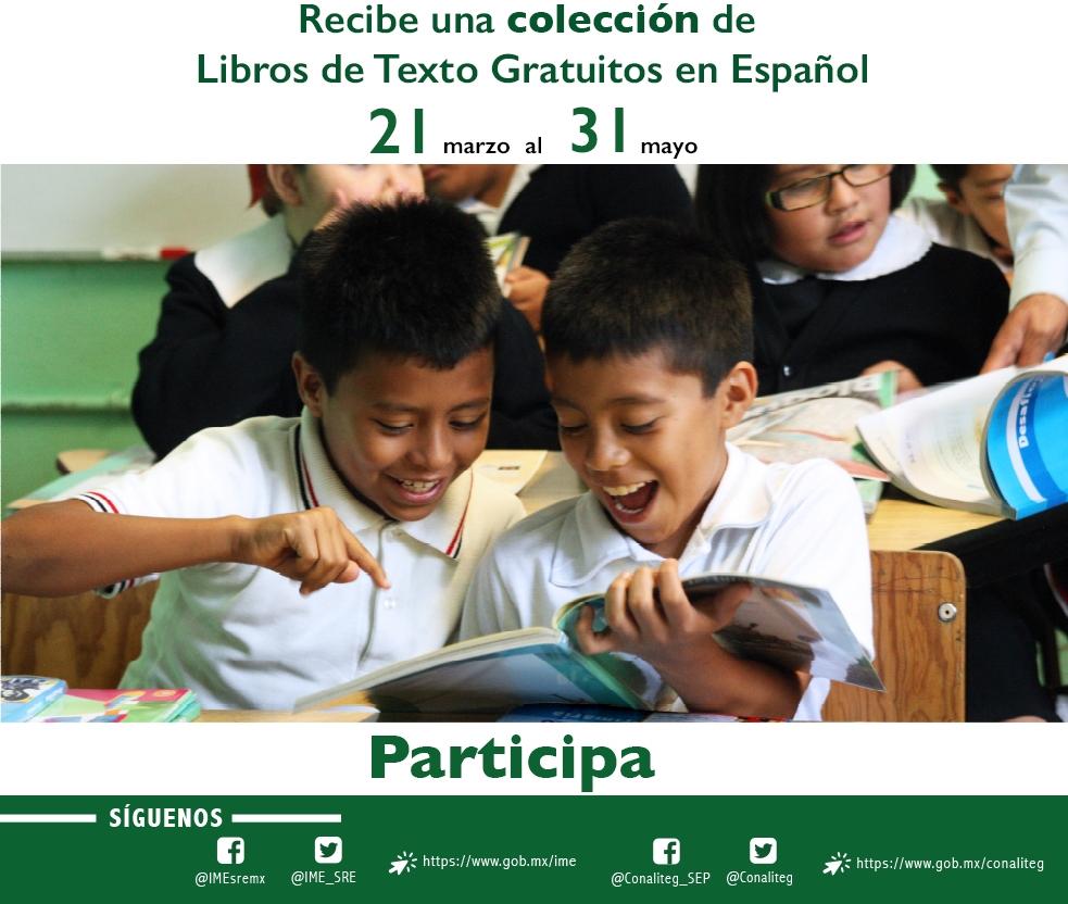Donaci n de libros de texto gratuitos en espa ol 2018 for Mexterior convocatorias