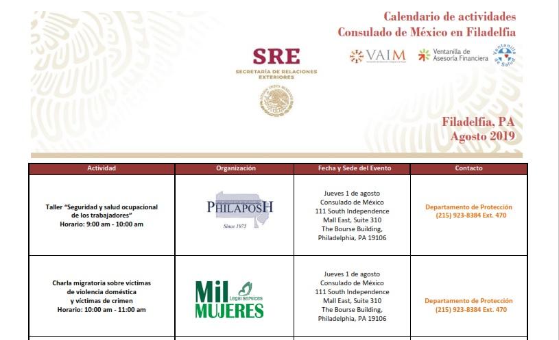 Calendario Financiero 2019.Calendario De Actividades