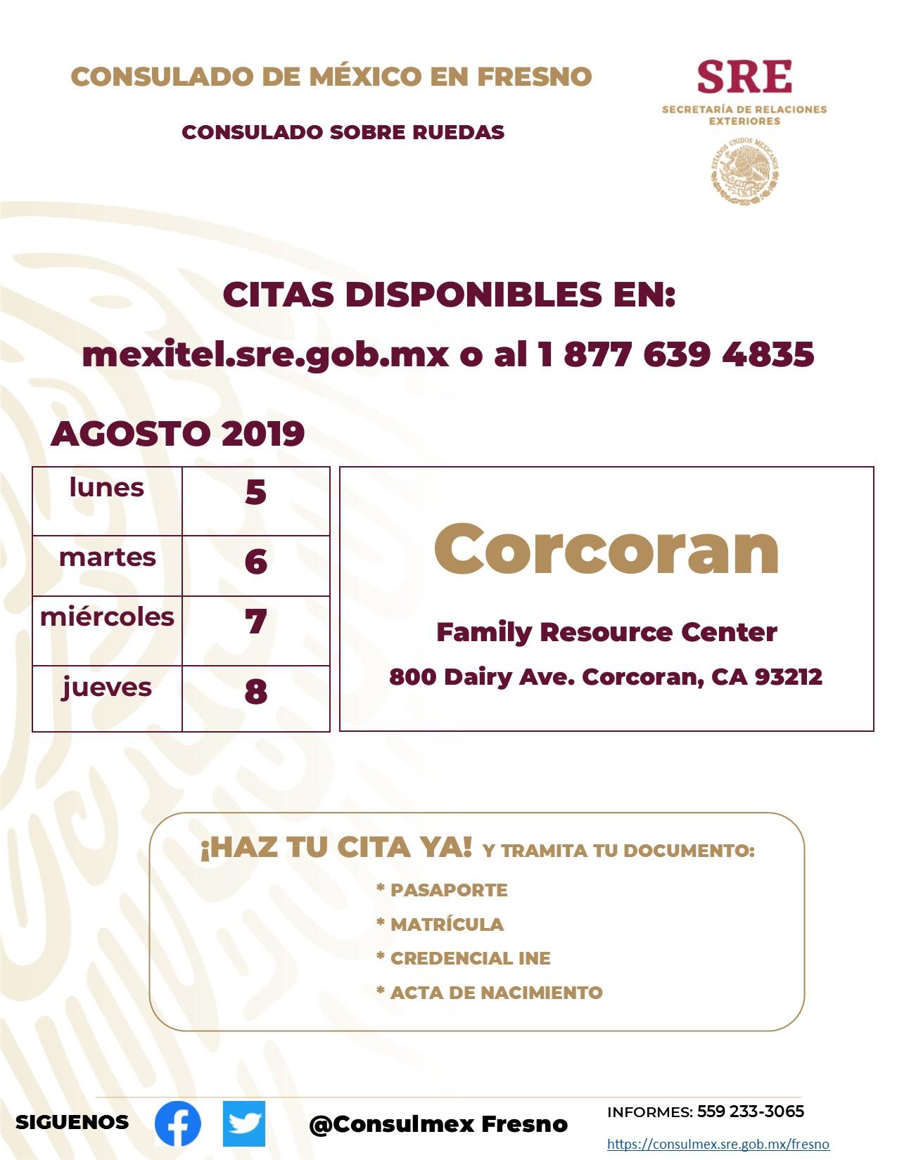 Consulado Mexicano Sobre Ruedas Citas