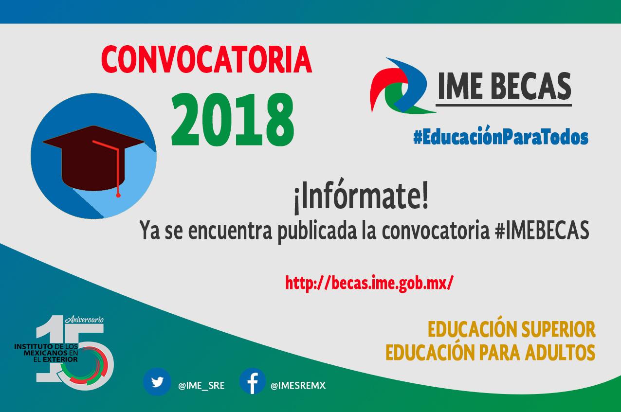 CONVOCATORIA IME-Becas 2018