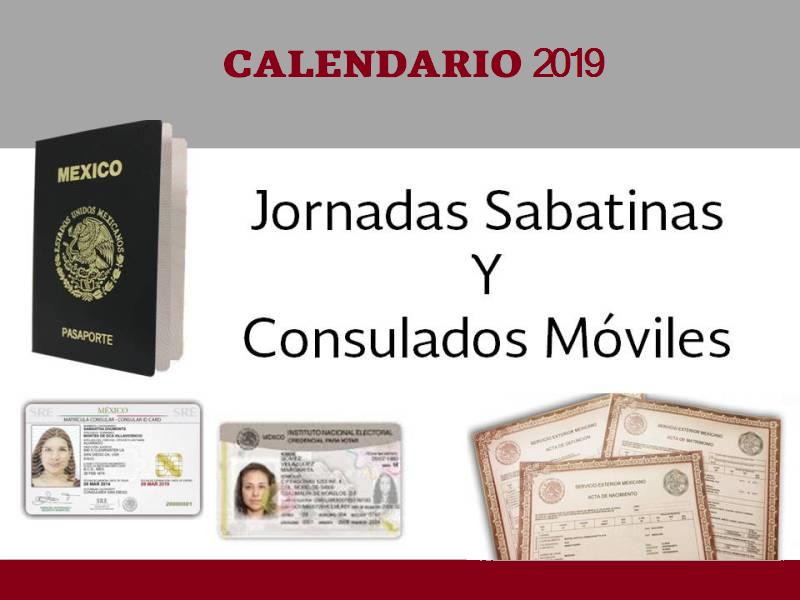Consulados Móviles y Jornadas Sabatinas 2019