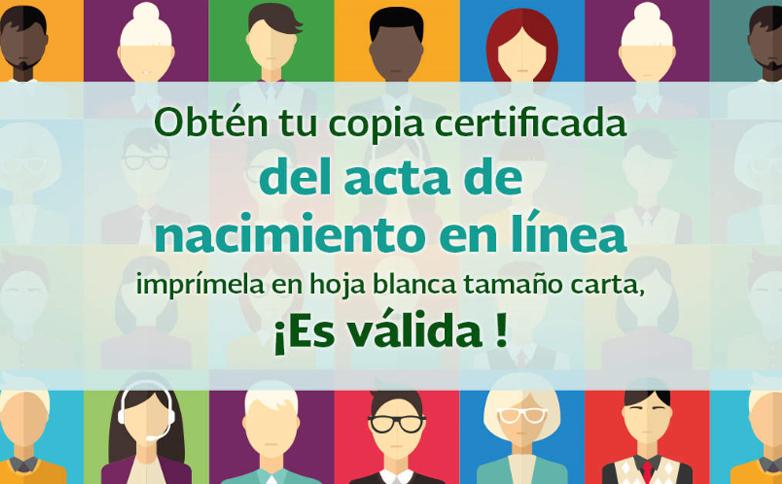 Copia certificada del acta de nacimiento en línea