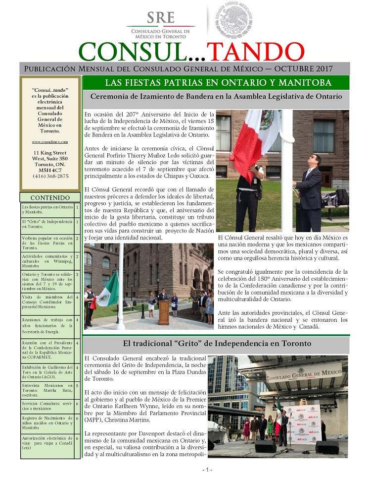 Comunicados de Prensa y Boletines Mensuales 2017